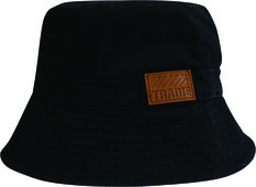 Tradie Men's Shark Print Bucket Hat Black OSFM, Black, bcf_hi-res