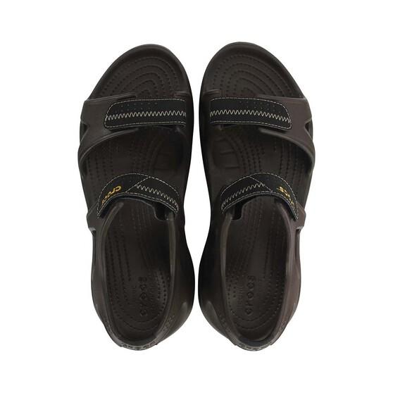 Crocs Men's Swiftwater River Sandal, Espresso, bcf_hi-res