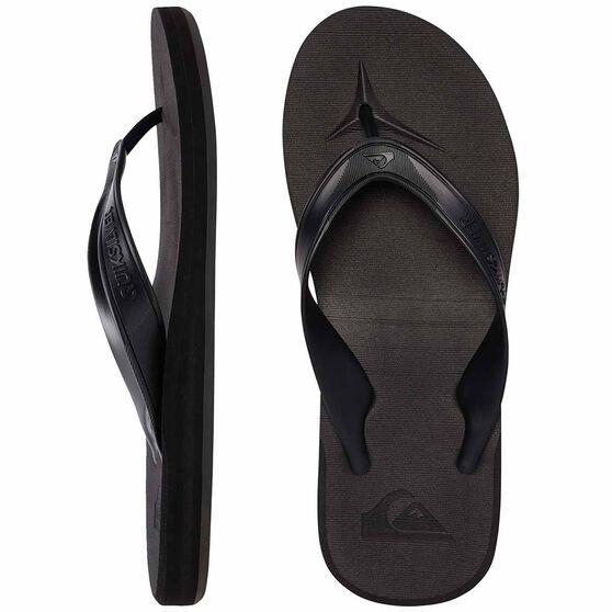 Quiksilver Waterman Carver II Deluxe Thongs, Black / Brown, bcf_hi-res