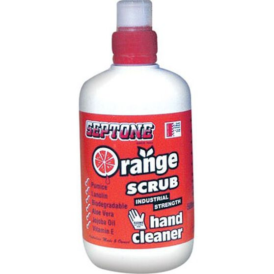 Orange Scrub Hand Cleaner - 500mL, , bcf_hi-res
