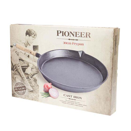 Pioneer Pre Seasoned Round Frypan 30cm, , bcf_hi-res