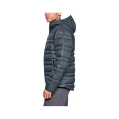 Under Armour Men's Armour Down Hooded Jacket, Wire / Black, bcf_hi-res