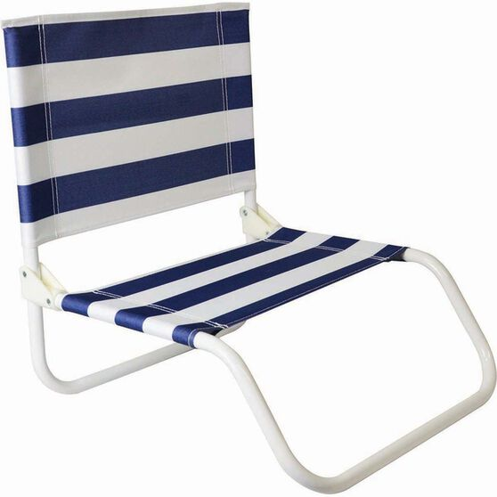 Folding Beach Chair Yellow Stripe, , bcf_hi-res