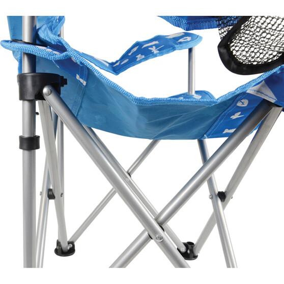 Wanderer Kids' Camping Fun Camp Chair Blue, Blue, bcf_hi-res