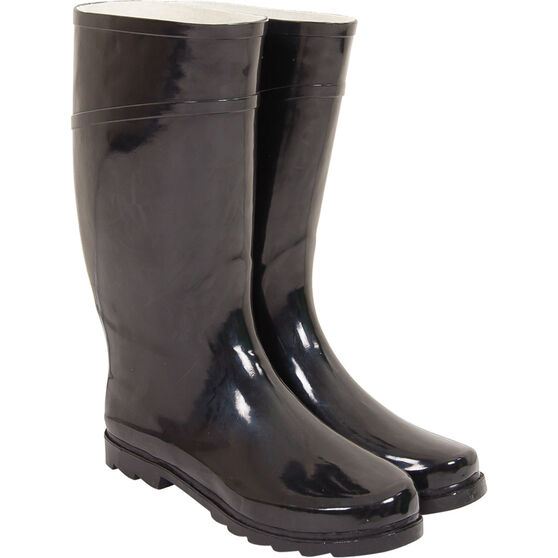 Explore 360 Men's Gumboots Black 8, Black, bcf_hi-res