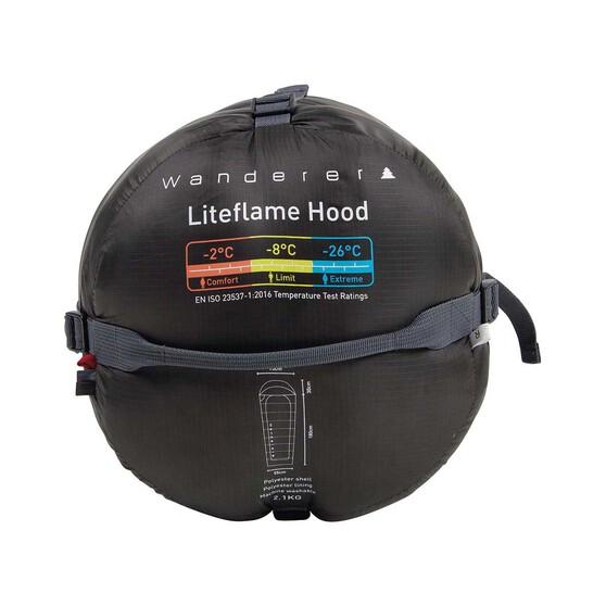 Wanderer Liteflame Hooded -2C Sleeping Bag, , bcf_hi-res