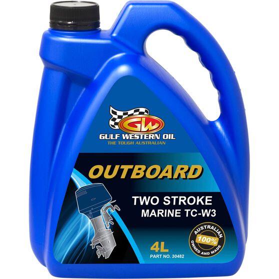 Gulf Western Outboard Oil - 2 Stroke, 4 Litre, , bcf_hi-res