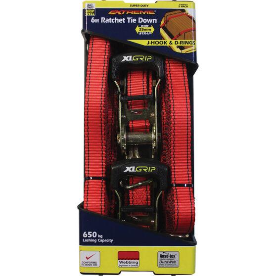 Gripwell Ratchet Tie Down 6m 650kg 2 Pack, , bcf_hi-res