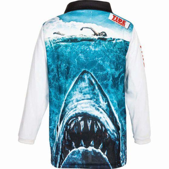 Tide Apparel Kids' Jawz Fishing Jersey, Blue / White, bcf_hi-res