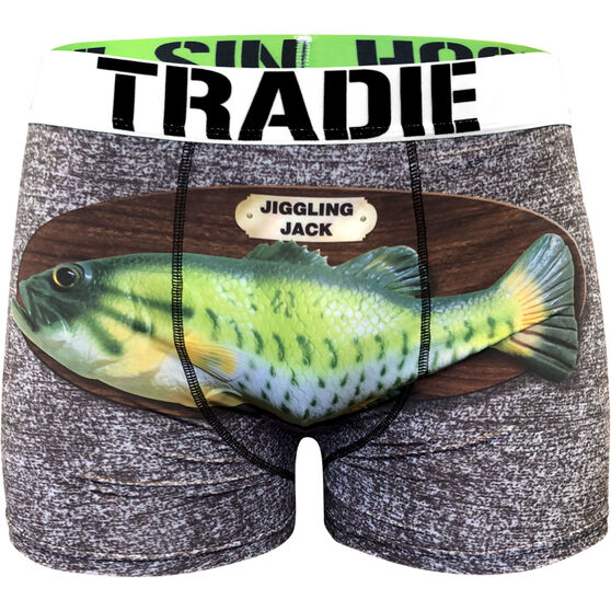Tradie Men's Singing Fish Trunks Singing Fish L, Singing Fish, bcf_hi-res