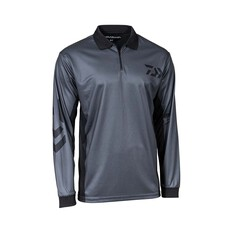 Daiwa Men's Logo Sublimated Polo Grey S, Grey, bcf_hi-res