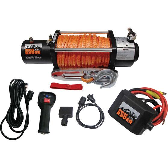 Ridge Ryder Electric Winch - 12000lb, 12 Volt, , bcf_hi-res
