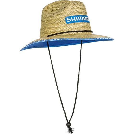 Shimano Kids' Wide Brim Straw Hat - OSFM, , bcf_hi-res