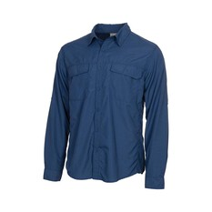 OUTRAK Men's Long Sleeve Hiking Shirt Blue S, Blue, bcf_hi-res
