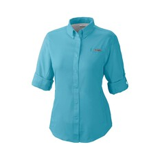 Columbia Women's Tamiami II Long Sleeve Shirt Clear Water XS, Clear Water, bcf_hi-res