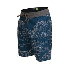 Quiksilver Waterman Men's Angler Print Boardshorts, Midnight Blue, bcf_hi-res