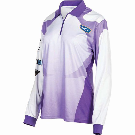 BCF Women's Corporate Sublimated Polo Purple 16, Purple, bcf_hi-res
