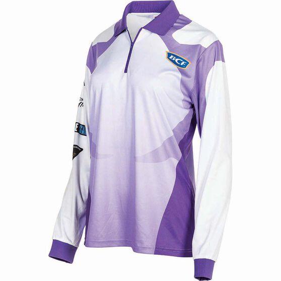 BCF Women's Corporate Sublimated Polo Purple 16, Purple, bcf_hi-res