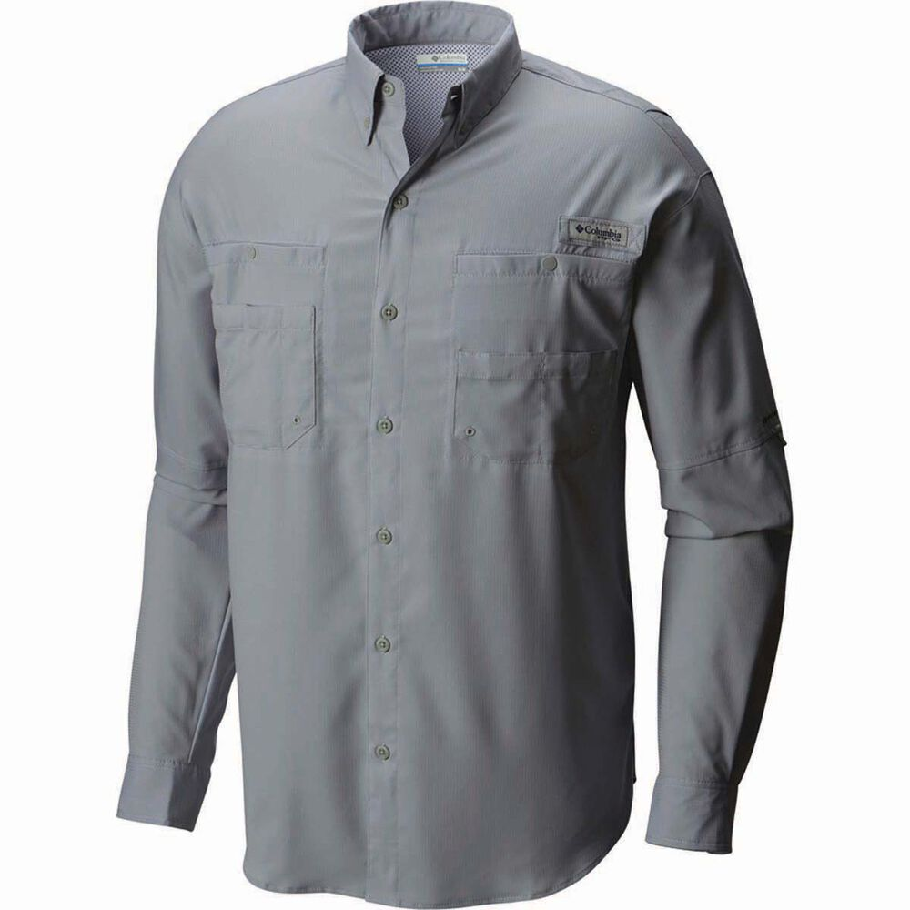 d03b853f7 Columbia Men's Tamiami II Long Sleeve Shirt, Grey Ash, bcf_hi-res
