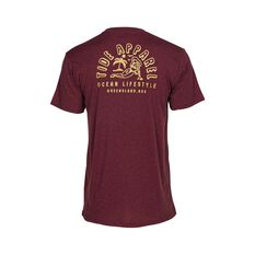 Tide Apparel Men's QLD Tee Burgundy S, Burgundy, bcf_hi-res