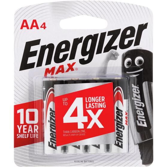 Energizer Max AA Batteries - 4 Pack, , bcf_hi-res