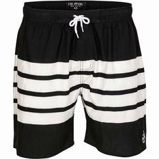 Men's Stripe Shorts Black / White 32, Black / White, bcf_hi-res
