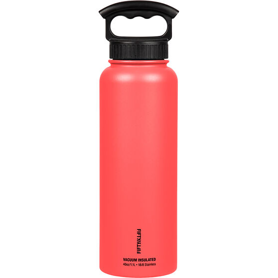 Fifty Fifty Insulated Drink Bottle 1.1L Coral 1.1L, Coral, bcf_hi-res