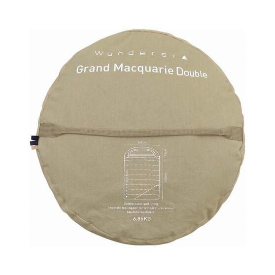 Wanderer Grand Hooded Double Sleeping Bag, , bcf_hi-res