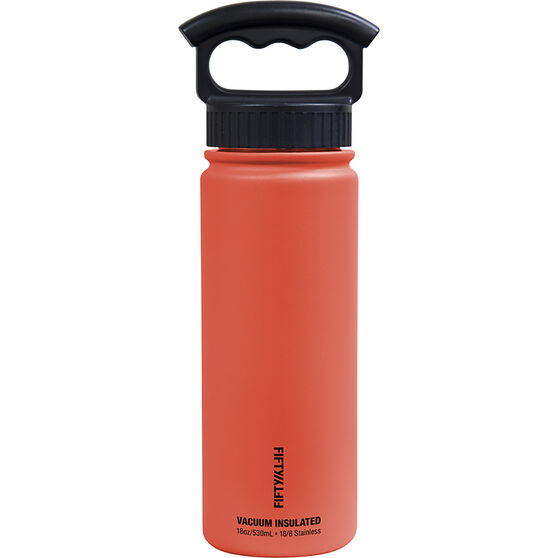 Fifty Fifty Insulated Drink Bottle 530ml Coral 530ml, Coral, bcf_hi-res