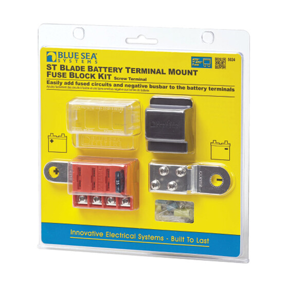 Blue Sea Systems ST Blade Battery Terminal Mount Fuse Block Kit, , bcf_hi-res