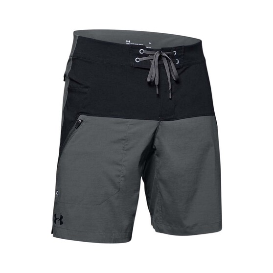 Under Armour Men's Fish Hunter Boardshorts, Pitch Grey / Black, bcf_hi-res
