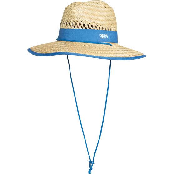 Explore 360 Kids' Logo Straw Hat Natural 54cm, Natural, bcf_hi-res