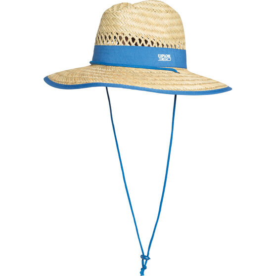 Explore 360 Kids' Logo Straw Hat Natural 52cm, Natural, bcf_hi-res