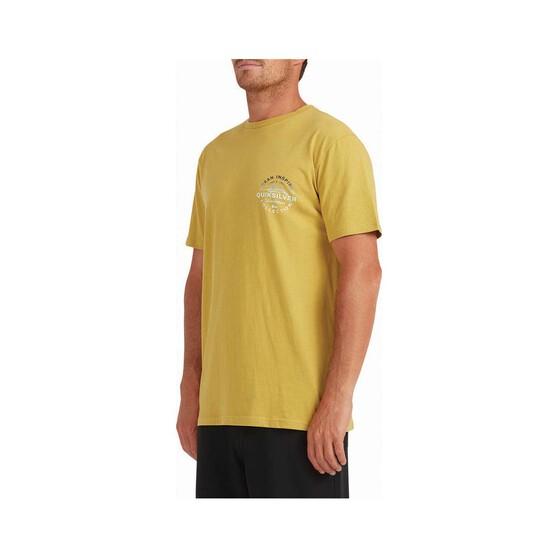 Quiksilver Waterman Men's Ocean Eyes Short Sleeve Tee, Lime, bcf_hi-res