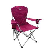 Netball Queensland Cooler Arm Camp Chair, , bcf_hi-res
