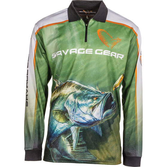 Savage Men's Barra Sublimated Polo Green M, Green, bcf_hi-res