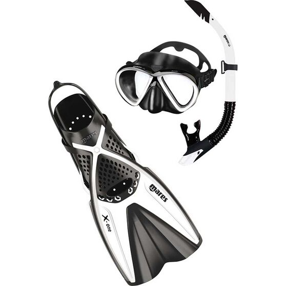 Mares Bonito X-One Snorkelling Set White / Black L / XL, White / Black, bcf_hi-res