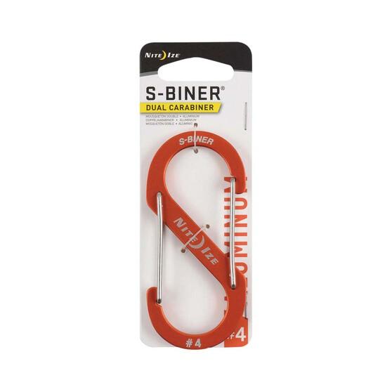 Nite Ize S Biner Dual Carabiner Aluminium No.4  Orange, , bcf_hi-res