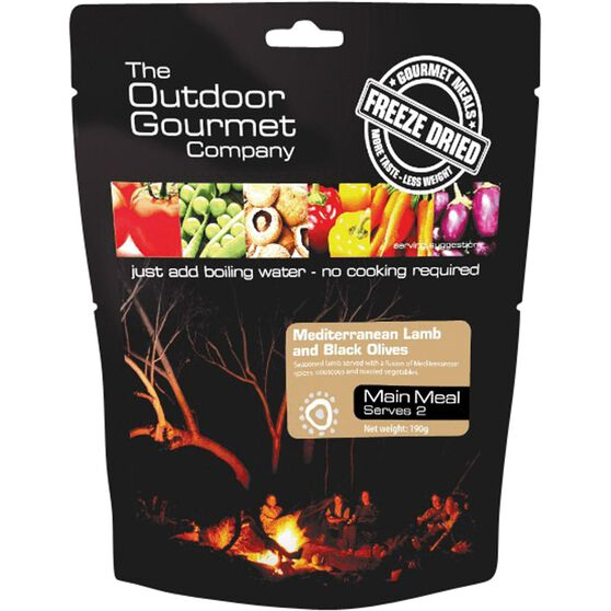 Outdoor Gourmet Company Mediterranean Lamb with Black Olives 2 Serves, , bcf_hi-res