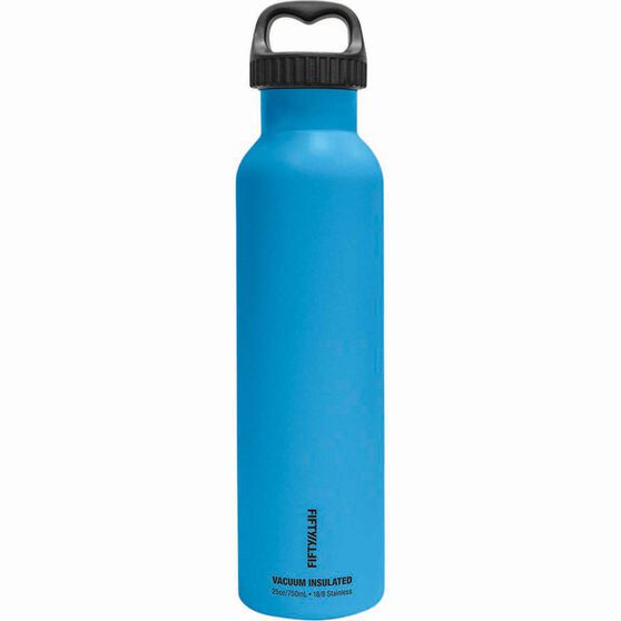 Fifty Fifty Insulated Drink Bottle 750ml Blue, Blue, bcf_hi-res