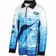 BCF Kids' Marlin Sublimated Polo Blue 8, Blue, bcf_hi-res