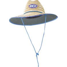 BCF Kids' Straw Hat Natural 52cm, Natural, bcf_hi-res