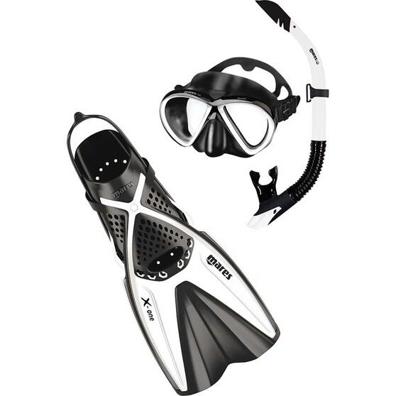 Mares Bonito X-One Snorkelling Set, White / Black, bcf_hi-res