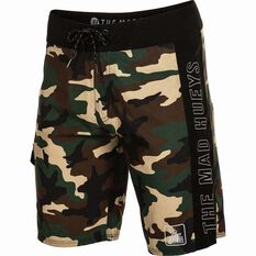 The Mad Hueys Men's Offshore Camo Boardshorts Camo 30, Camo, bcf_hi-res