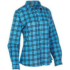 OUTRAK Women's Flannel Shirt Blue 8, Blue, bcf_hi-res