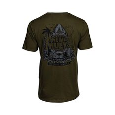 The Mad Hueys Men's Jawsome Short Sleeve UV Tee Army Green S, Army Green, bcf_hi-res