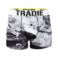 Tradie Shark Black Socks and Jocks Shark Black S, Shark Black, bcf_hi-res