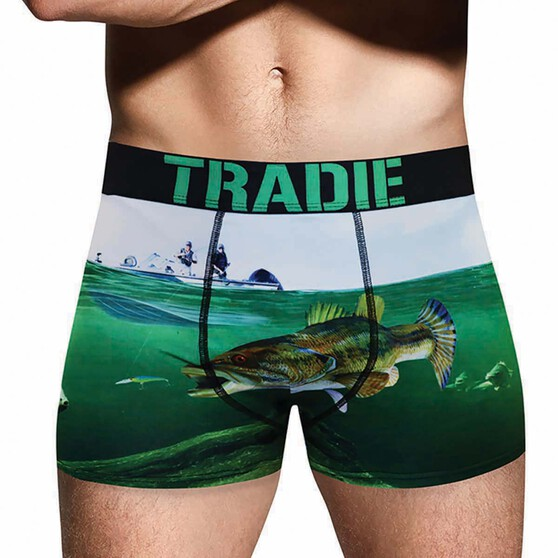 Tradie Men's Bass Barry Trunk, Print, bcf_hi-res