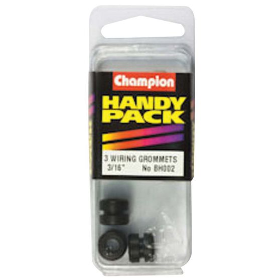 Champion Wiring Grommet - 3 / 16inch X 5 / 16inch, BH002, Handy Pack, , bcf_hi-res