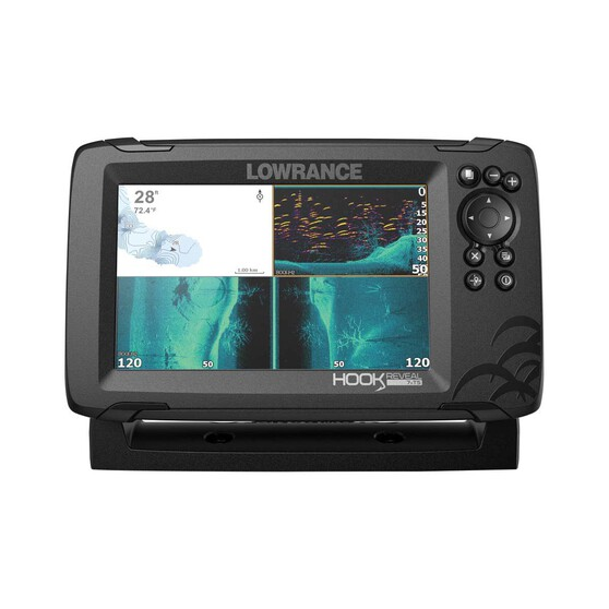 Lowrance Hook Reveal 7X GPS Fish Finder with Triple Shot Transducer, , bcf_hi-res